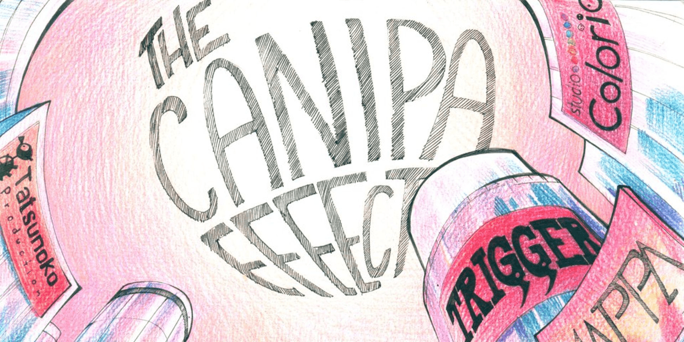 The Canipa Effect header image of the title The Canipa Effect written in comic style letters with a pink background.