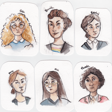 Fan art of six Arden characters
