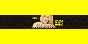 "A photo of music artist WangleLine, playing a keyboard, titled, ""I make weird music."""